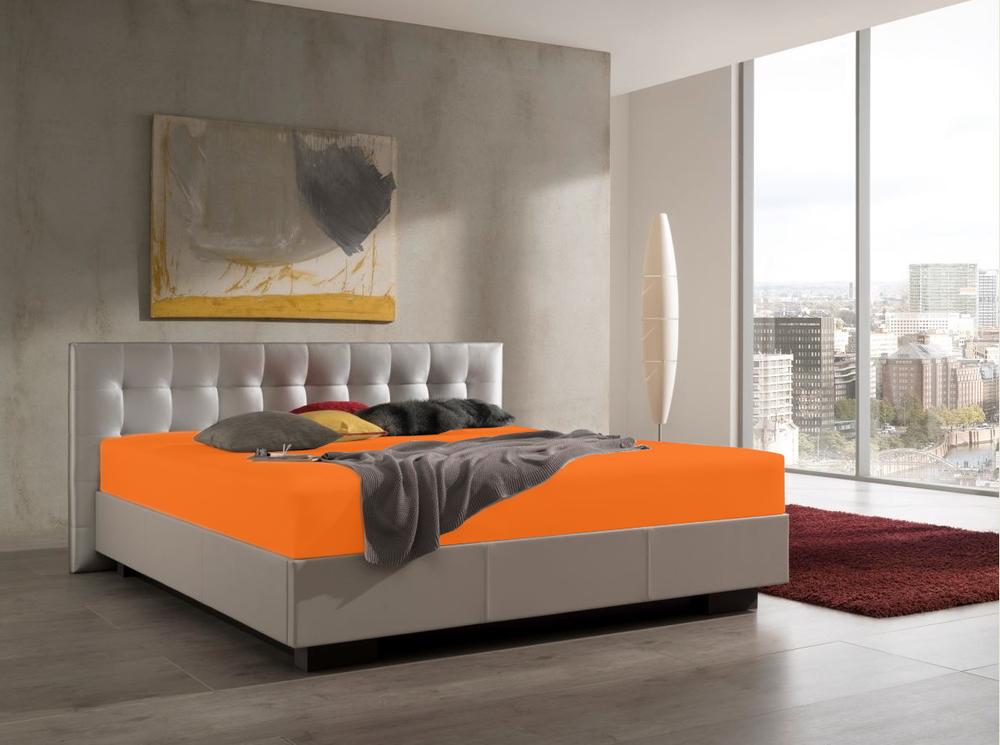 Spannbetttuch für Wasserbetten in Orange