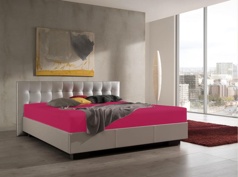 Spannbetttuch für Wasserbetten in Rubin